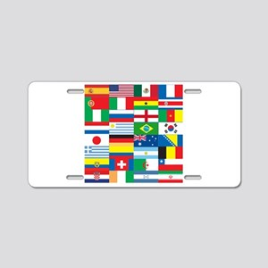Flags of 32 Countries Aluminum License Plate