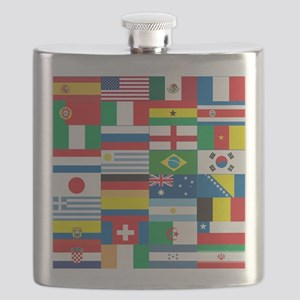 Flags of 32 Countries Flask