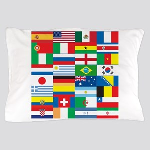 Flags of 32 Countries Pillow Case