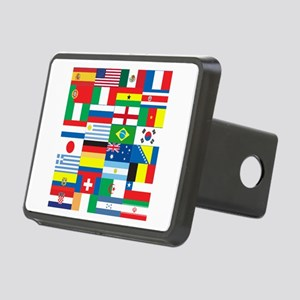 Flags of 32 Countries Rectangular Hitch Cover