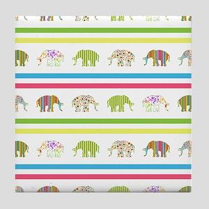 ELEPHANT COORDINATES Tile Coaster