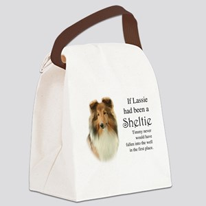 Timmy's Sheltie Canvas Lunch Bag