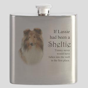 Timmy's Sheltie Flask