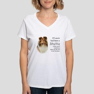 Timmy's Sheltie Women's V-Neck T-Shirt