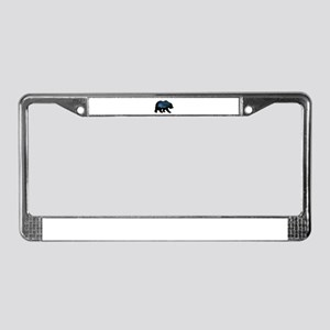 BEAR SKIES License Plate Frame