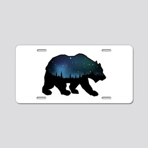 BEAR SKIES Aluminum License Plate
