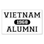 ALUMNI 1968 Sticker (Rectangle)