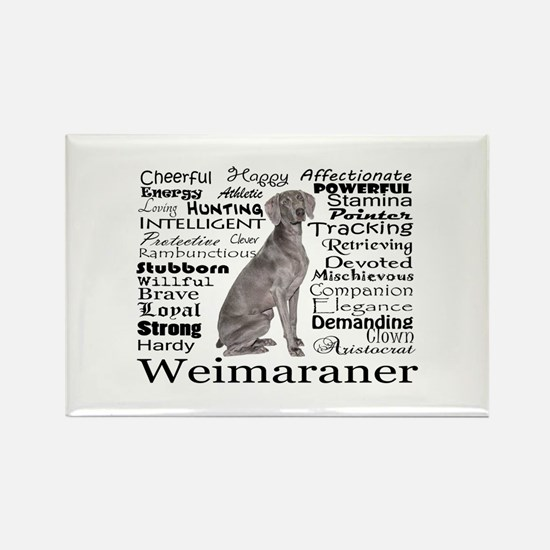 Weimaraner Traits Magnets