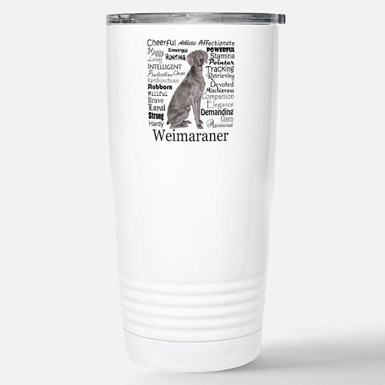 Weimaraner Traits Travel Mug