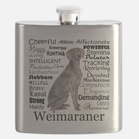 Weimaraner Traits Flask