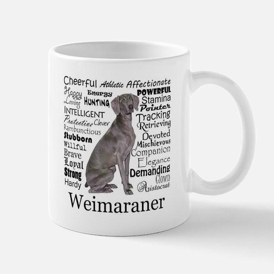 Weimaraner Traits Mugs