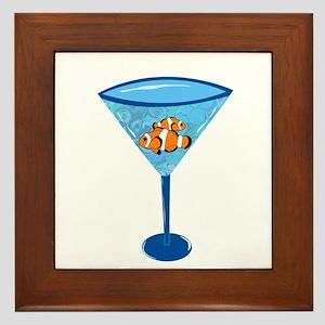 Clown Fishtini Framed Tile