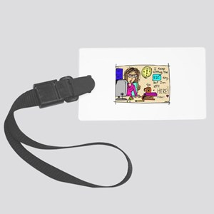 Escape Key Humor Large Luggage Tag