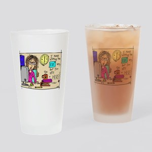 Escape Key Humor Drinking Glass