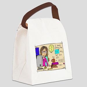 Escape Key Humor Canvas Lunch Bag
