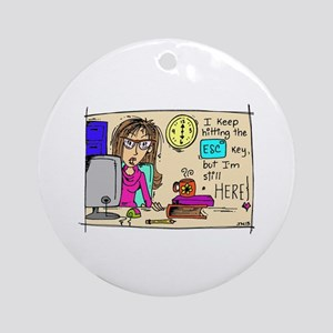 Escape Key Humor Ornament (Round)