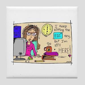 Escape Key Humor Tile Coaster