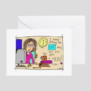 Escape Key Humor Greeting Card