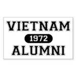 ALUMNI 1972 Sticker (Rectangle)