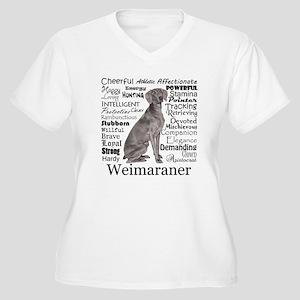 Weimaraner Traits Plus Size T-Shirt