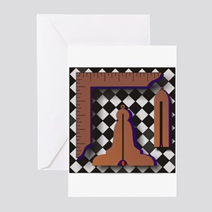 Masonic Working Tools No. 1 Greeting Cards (Pk of