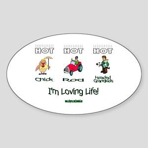 Loving Life Grandpa Oval Sticker