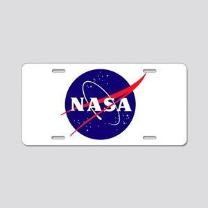 NASA Meatball Logo Aluminum License Plate
