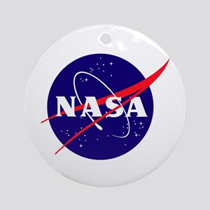 NASA Meatball Logo Round Ornament