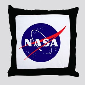 NASA Meatball Logo Throw Pillow