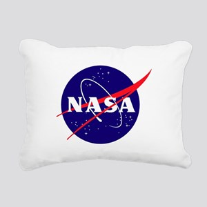 NASA Meatball Logo Rectangular Canvas Pillow