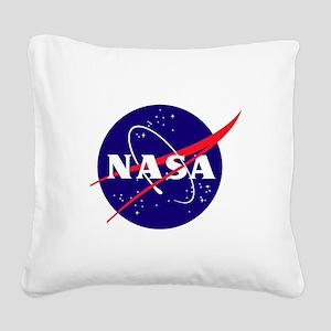 NASA Meatball Logo Square Canvas Pillow