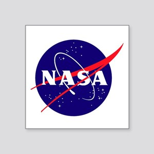 "NASA Meatball Logo Square Sticker 3"" x 3"""