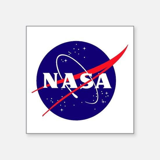 "NASA Meatball Logo Square Sticker 3"" x 3"""