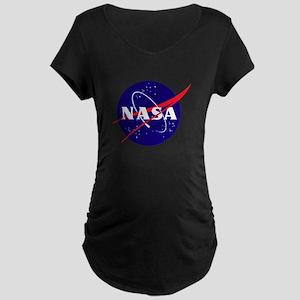 NASA Meatball Logo Maternity Dark T-Shirt