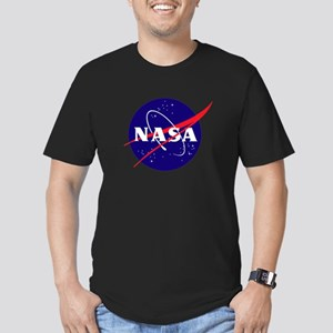 NASA Meatball Logo Men's Fitted T-Shirt (dark)