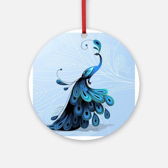 Elegant Peacock Ornament (Round)