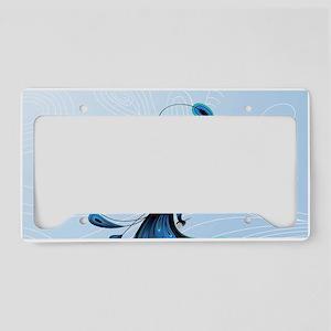Elegant Peacock License Plate Holder
