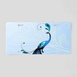 Elegant Peacock Aluminum License Plate
