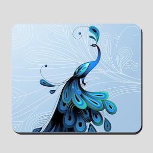 Elegant Peacock Mousepad