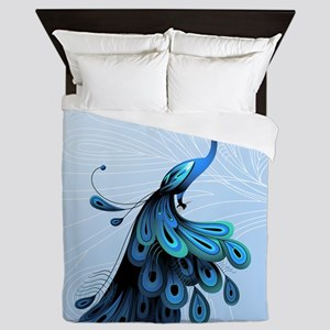 Elegant Peacock Queen Duvet