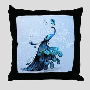 Elegant Peacock Throw Pillow