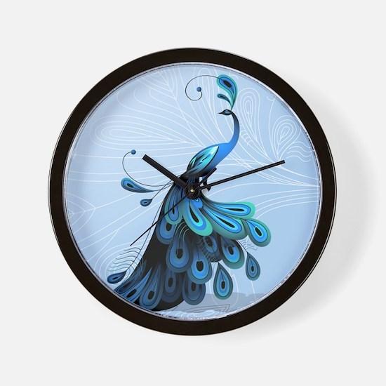 Elegant Peacock Wall Clock