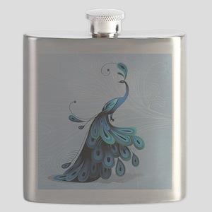 Elegant Peacock Flask