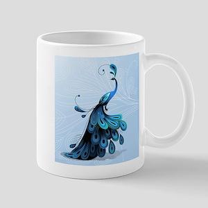Elegant Peacock Mugs