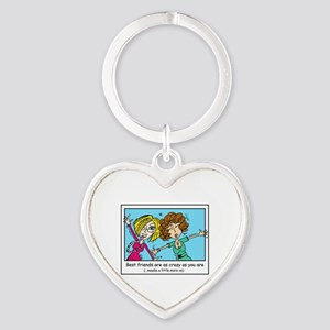 Crazy Best Friends Heart Keychain