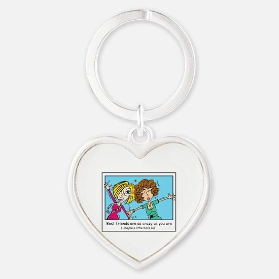 Crazy Best Friends Heart Keychain