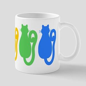 Rainbow Cat Silhouettes Mug