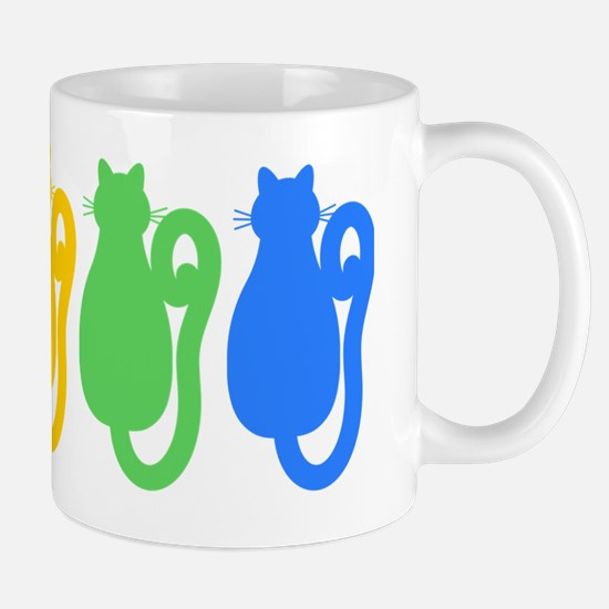 Rainbow Cat Silhouettes Mug