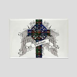 Fletcher Tartan Cross Rectangle Magnet