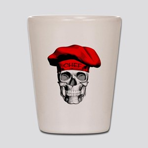 Red CHef Skull Shot Glass